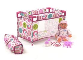 Baby pop met camping bedje