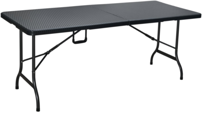 Vouwtafel wickerlook 180 x74x75