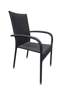 Wicker stoel stapelbaar