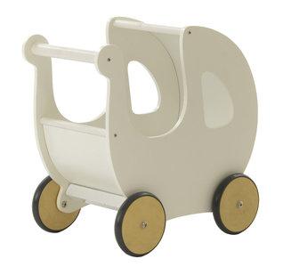 Houten poppenwagen